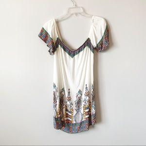 Flying Tomato Off Shoulder Print Dress